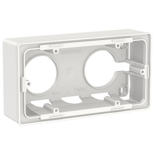 Unica New Коробка для открытой установки, 2-постовая, белый