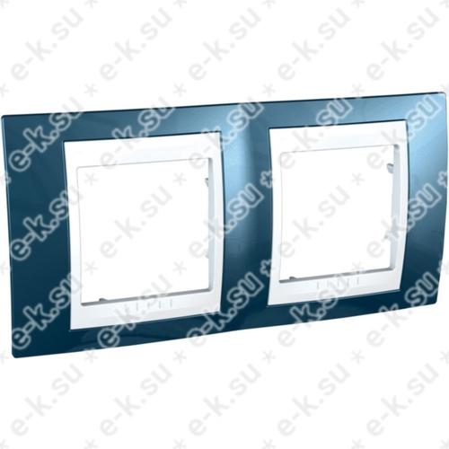 Unica Хамелеон Рамка 2-постовая, горизонтальная, белый/голубой лед