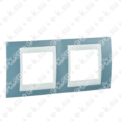 Unica Хамелеон Рамка 2-постовая, горизонтальная, белый/синий