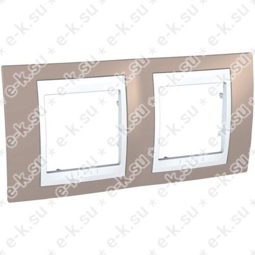 Unica Хамелеон Рамка 2-постовая, горизонтальная, белый/коричневый