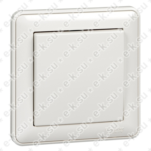 W59 Выключатель 1-клавишный, 10АХ, в сборе, белый