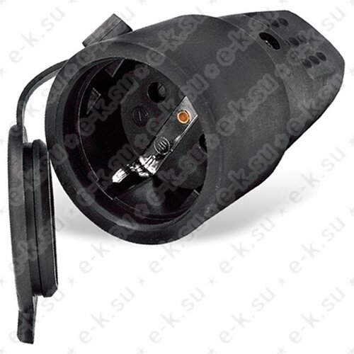 Штепсельный разъем с/з каучук 16А 250ВIP44, еврослот