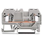Клемма 2-проводная проходная 4 мм², центральная маркировка, для DIN-рейки 35 x 15 и 35 x 7,5, CAGE CLAMP®