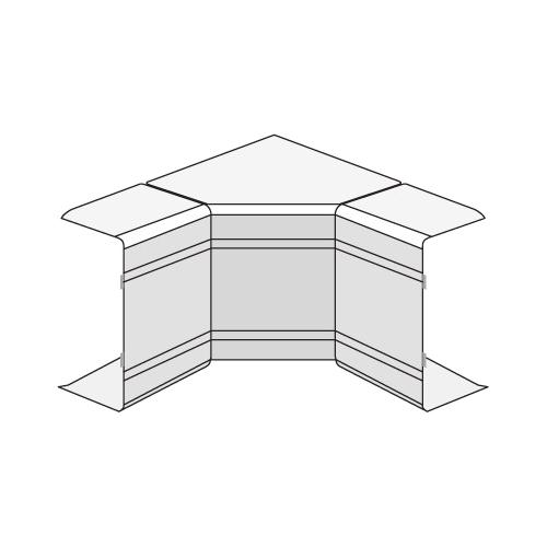 Угол внутренний изменяемый 80x60 70-120 градусов NIAV IN-Liner (01728)