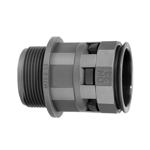 Муфта труба-коробка DN 12 мм, М20х1,5, полиамид, цвет черный (PAM12M20N)