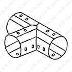 Тройник для дренажных труб 110мм RUVinil (ТДР-110) Рувинил
