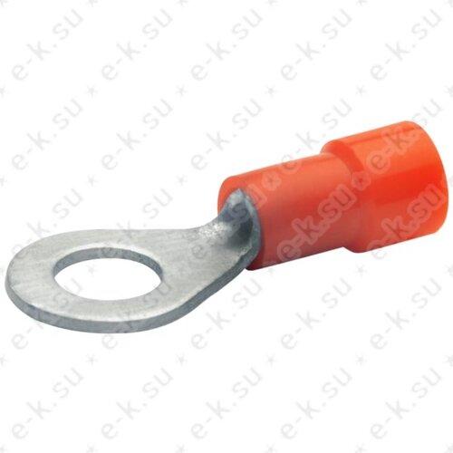 Наконечник кольцевой изолированный НКИ 1-4 красный (DIN) (100шт) (6204) Klauke