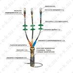 Муфта кабельная концевая 10КНТп-3ж (150-240)