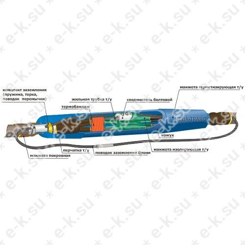 Муфта кабельная соединительная 1СТп (тк)-4ж (16-25)