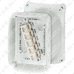 Коробка клеммная 5 положений до 16мм2 130х180х77 IP66/67 серая стойкая к УФ (KF 1010 G)