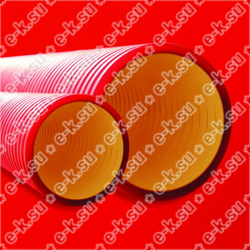 Труба жесткая двустенная для кабельной канализации (8кПа) D=200мм красная (160920-8K)
