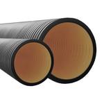 Труба жесткая двустенная для кабельной канализации 6м (12кПа) д110мм цвет черная (160911A)