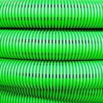 Труба гибкая двустенная дренажная D=200мм класс SN6 перфорация 360 градусов зеленый (140920)