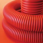Труба гибкая двустенная 110мм для кабельной канализации красная (100м) бухта (121911100)