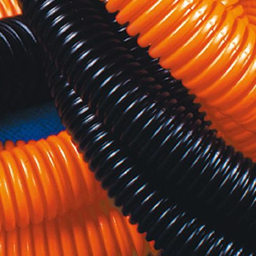 Труба гофрированная ПНД 20 мм с протяжкой тяжелая оранжевая (100м) (71520)