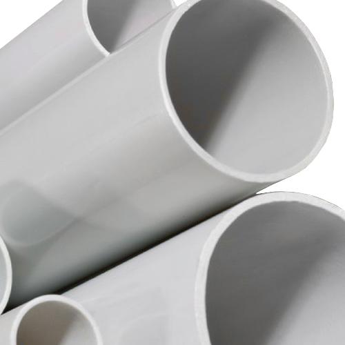 Труба гладкая жесткая ПВХ 20 мм легкая серая (3м) (63920)