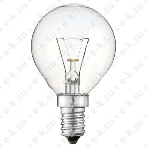 Лампа накаливания декоративная ДШ 40вт P45 230в E14 (шар) (01186250)