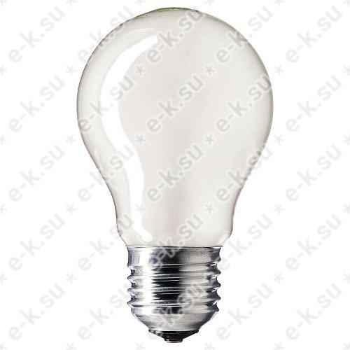 Лампа накаливания ЛОН 60вт A55 230в E27 матовая (35471684)