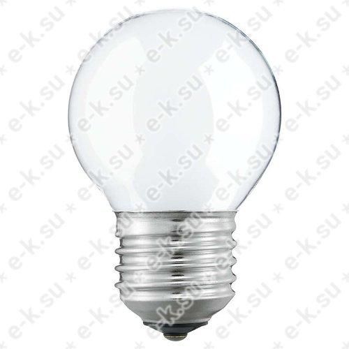 Лампа накаливания декоративная ДШ 40вт P45 230в E27 матовая (шар) (01122050M)