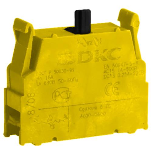 Блок контактный 1НО с клеммными зажимами под винт (ACVL02)