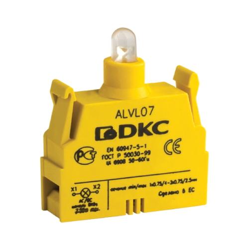 Блок контактный с клеммными зажимами под винт со светодиодом на 220В (ALVL220)