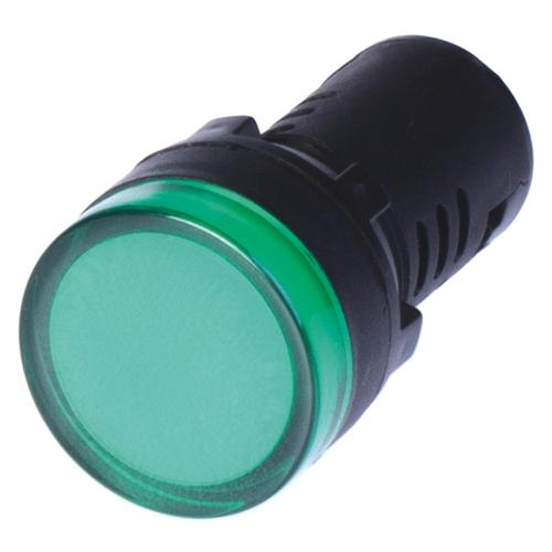 Индикатор сигнальный со встроенным диодом зеленый 220В (ALIL2L220)