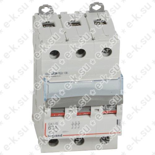 Выключатель-разъединитель трехполюсный 63А DX3