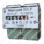 Счетчик электроэнергии однофазный однотарифный Меркурий 201.7 60/5 Т1 D 230В ОУ (201.7)