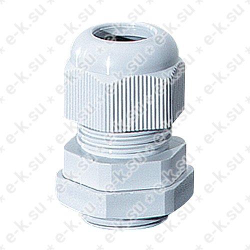 Сальник с разгрузкой натяжения AKM 16 5-10мм IP66/IP67 стойкий к УФ серый (AKM 16)