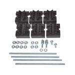 Набор держателей для шин толщиной 10мм 1-2 шины на полюс (3 полюса) (R5BSEV2/10T)