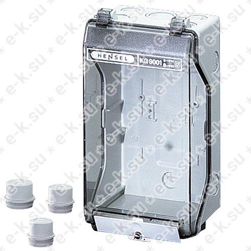 Бокс пустой 253х136х115 IP55/IP65 пластиковый прозрачная пломбируемая дверь серый (KG 9001)