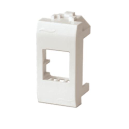 BRAVA Адаптер для информационных разъемов KEYSTONE 1 модуль белый (76607B)