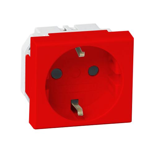 VIVA Розетка силовая с заземлением красная (45015)