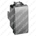 BRAVA Выключатель одноклавишный черный (77001N)